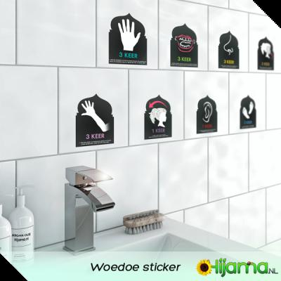 Webshop Foto Woedoe Rituele Wassing sticker voor in de badkamer